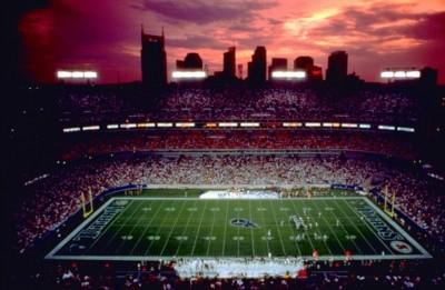 Tennessee Titan field at night