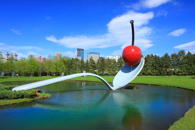 Minneapolis Skyline with Spoonbridge and Cherry