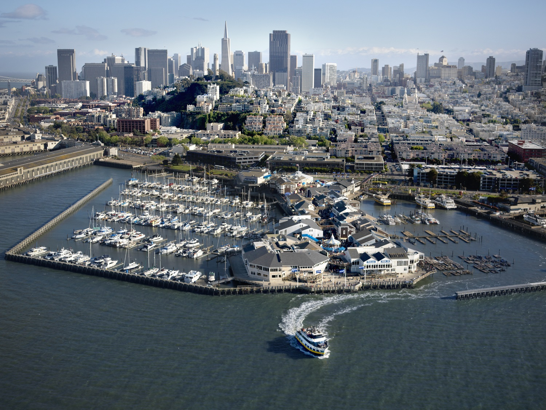 San Francisco Pier 39 aerial