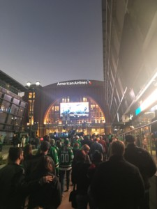 The walk up to American Airlines Arena