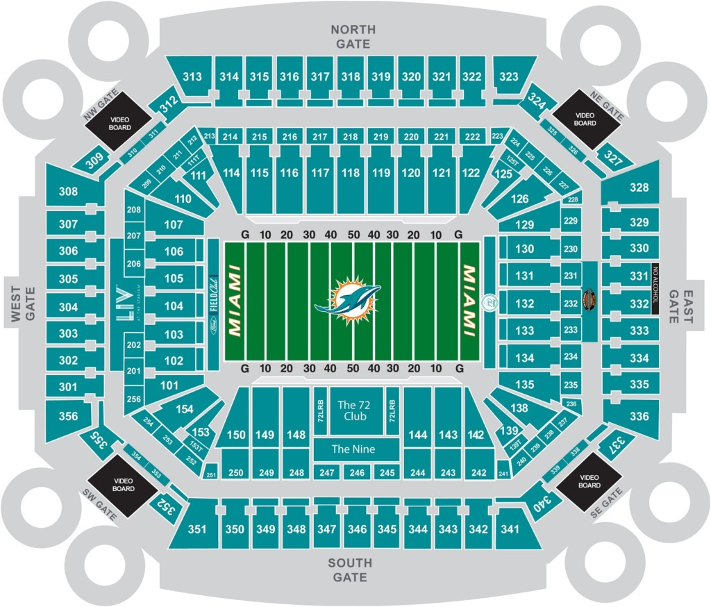 Super Bowl LIV - Hard Rock Stadium Seating Chart