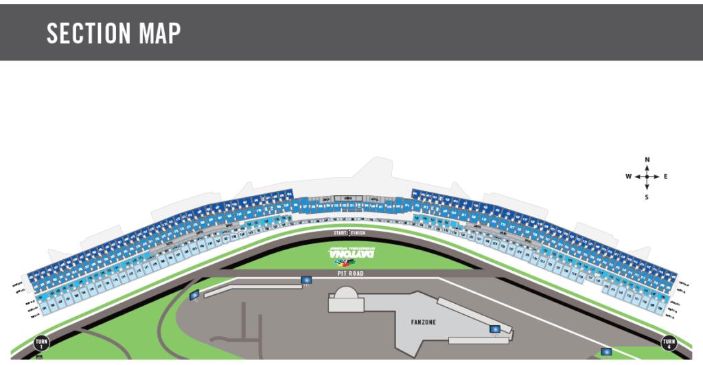 Motorsport - Daytona International Speedway Section Map