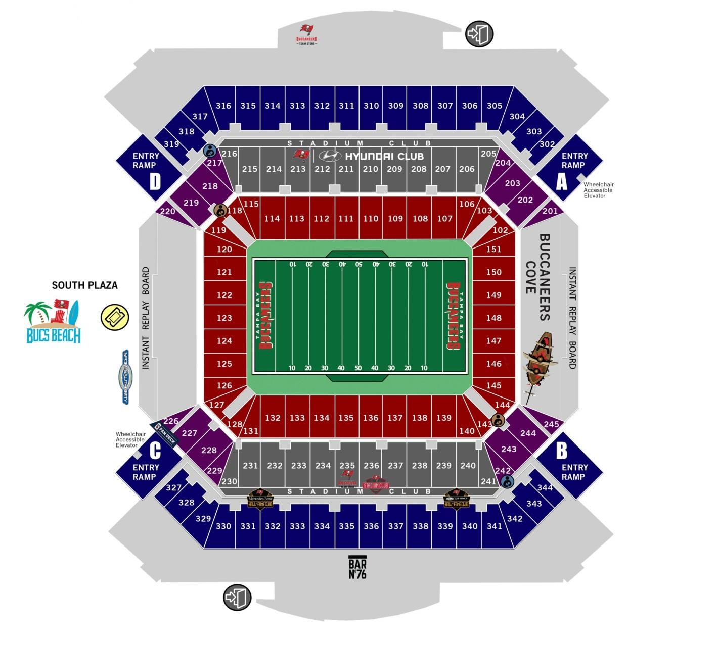 Super Bowl LV - Raymond James Stadium Seating Chart